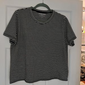Everlane box cut tee, striped, never worn L